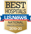 One of America's Best Hospitals by U.S. News & World Report, 2019-20