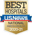 One of America's Best Hospitals by U.S. News & World Report, 2020-21