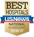 U.S. News & World Report America's Best Hospitals for Ear, Nose & Throat (ENT) 2016-17