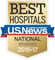 U.S. News & World Report America's Best Hospitals for Orthopedics 2016-17