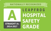 A grade in The Leapfrog Group's Hospital Safety Grade from 2014-2017