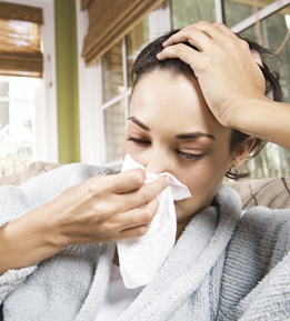 Woman with the flu