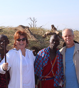 Cathy Paxton in Africa after double balloon gastric procedure