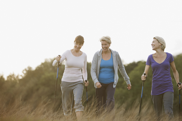 women walking for arthritis relief