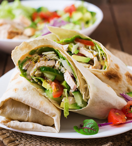 kidney healthy chicken wrap