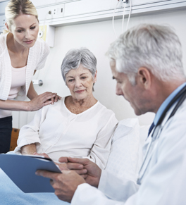 doctor reviewing exam results with patient