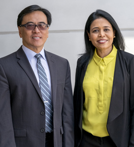 dr. kenneth chang, dr. bavani nadeswaran at uc irvine health