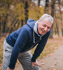man exercising with back pain