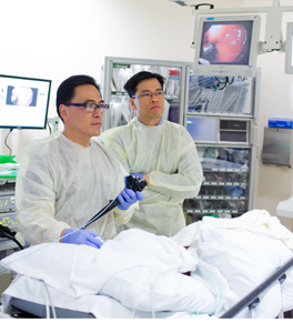 dr. kenneth chang gives patient a colonoscopy