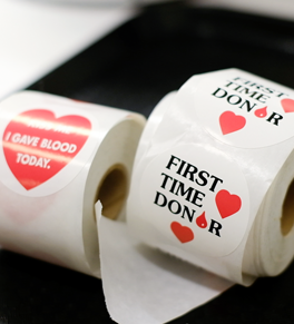 stickers for first-time blood donors
