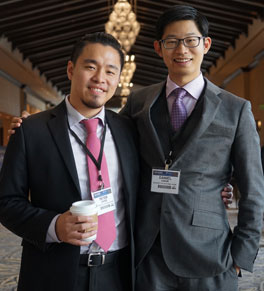 peter chang, left, and daniel chow