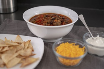black bean and veggie chili
