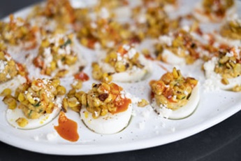 mexican corn deviled eggs