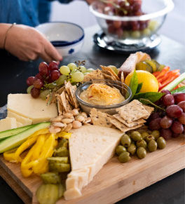 gut friendly cheese board