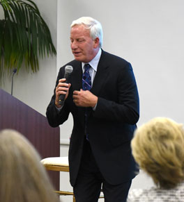 actor tom sullivan speaks at uci health event