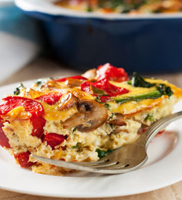 mediterranean vegetable strata