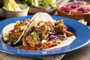 vegan vegetarian heart healthy roasted cauliflower black bean tacos