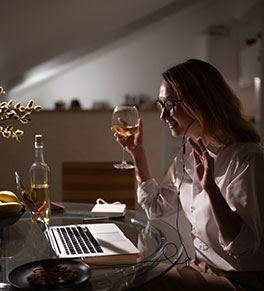 While sheltering at home, people are increasingly holding virtual happy hours.