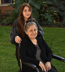 A UCI Health orthopaedic oncologist restores hope, mobility for breast cancer patient Maria Oceguera, pictured with daughter Adriana.