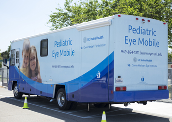 UCI Health pediatric eye mobile
