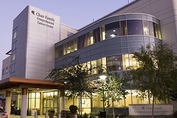 UCI Health Chao Family Comprehensive Cancer Center exterior
