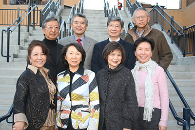 UC Irvine donors Allen Chao and siblings