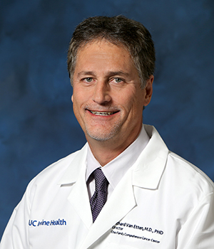 Richard Van Etten, MD, PHD, director of the UCI Health Chao Family Comprehensive Cancer Center