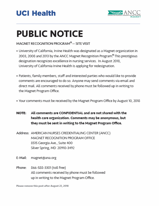 Public Notice: Magnet Recognition Program Site Visit