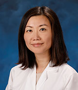 UCI Health hematologist-oncologist Dr. Viola Zhu specializes in the treatment of patients with lung cancer.
