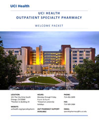 specialty outpatient pharmacy welcome packet cover