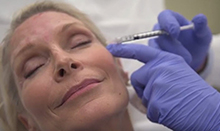 UC Irvine Health plastic surgeon Dr. Greg Evans demonstrates how botox treatment is performed.