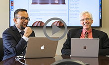 UCI Health gastroenterologists Dr. Jason Samarasena, left, and Dr. William Karnes answer questions about colonoscopies on Facebook Live.