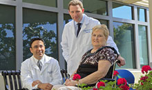 Marilyn Claytor with spine surgeons, Nitin N. Bhatia, MD, and Samuel S. Bederman, MD, PhD