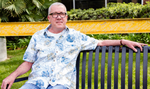 UCI Health patient Michael Moeller was treated for a deadly digestive bacterial infection with a new treatment called fecal microbiota transplant.