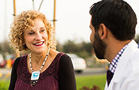 Eye surgeon Dr. Sam Garg is grateful patient Renee Montague's Healthcare Hero.