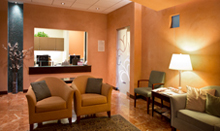 The lobby at Pacific Breast Care is the entryway to our full-service breast health center.