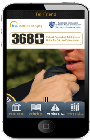 The 368+ app is intended to be a resource for law enforcement and first responders who suspect elder abuse or neglect.