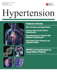 Cover of American Heart Association journal 'Hypertension'