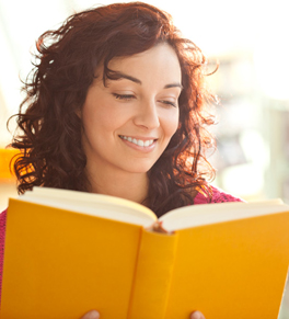 dry eyes woman reading book