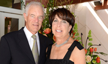 Cancer center donors Ralph and Sue Stern attend the UC Irvine Health 2014 gala, Healers & Heroes.