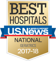 U.S. News & World Report America's Best Hospitals for Geriatrics 2017-18