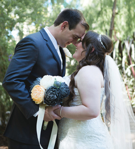 michelle schwartz and her husband on their wedding day