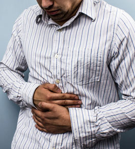 man with stomach virus