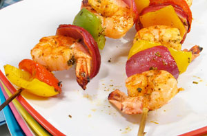 lime shrimp kebabs