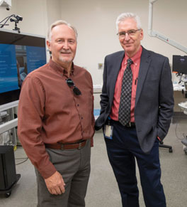 uci health colonoscopy patient john gifford and gastroenterologist dr. william karnes