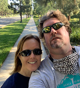 Meredith Ehrenberg and Tyler Martin take a selfie as they join the 4th annual UCI Anti-Cancer Challenge on Oct. 3, 2020.