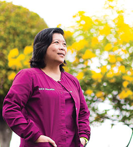 Van Pham, a certified UCI Health nurse and translator, is the Chao Family Comprehensive Cancer Center's bridge to the Vietnamese community.