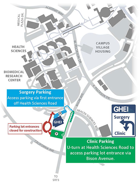 GHEI construction parking map, Phase 1