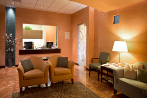 Pacific Breast Care in Costa Mesa is designed to create a warm and soothing environment for patients.