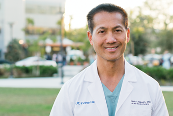 Dr. Ninh Nguyen, chief of the Division of Gastrointestinal Surgery and vice chair of the Department of Surgery